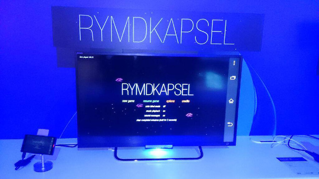 Rymdkapsel at Sony's booth at E3 2014